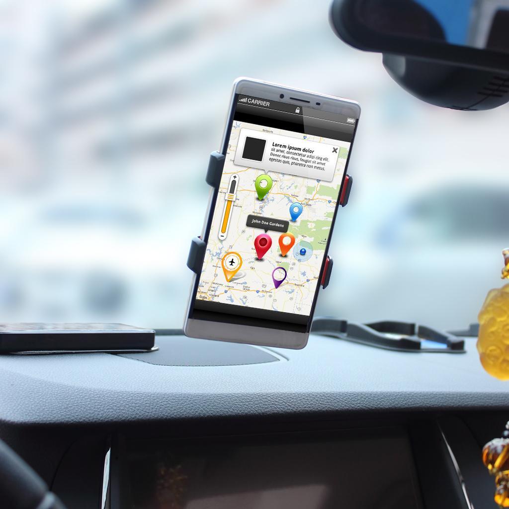 360 회전 범용 윈드 실드 자동차 더블 클립 마운트 창 / 데스크탑 흡입 컵 홀더 휴대 전화 GPS 장치에 대 한 스탠드 크래들