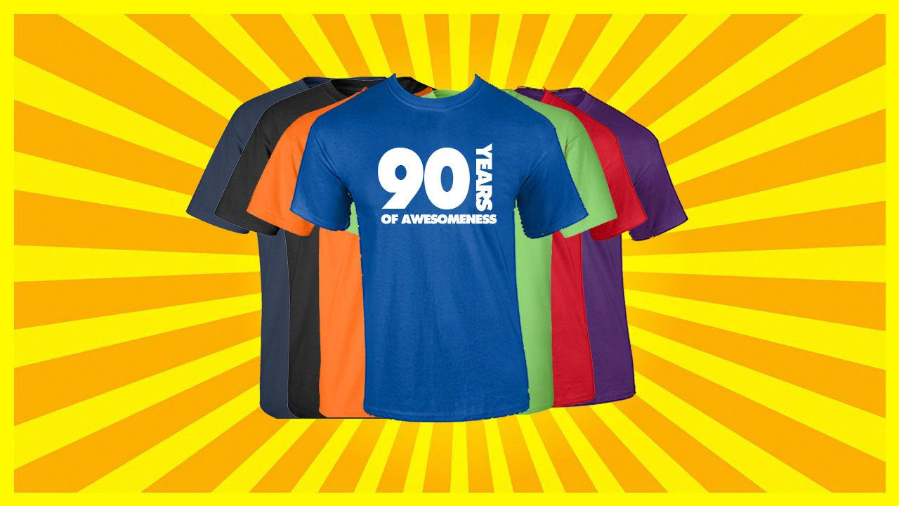 90th Birthday T Shirt Happy Funny 90 Years Old Tee Coolest Shirts Online Buy Designs From Awkwardstyles 1101
