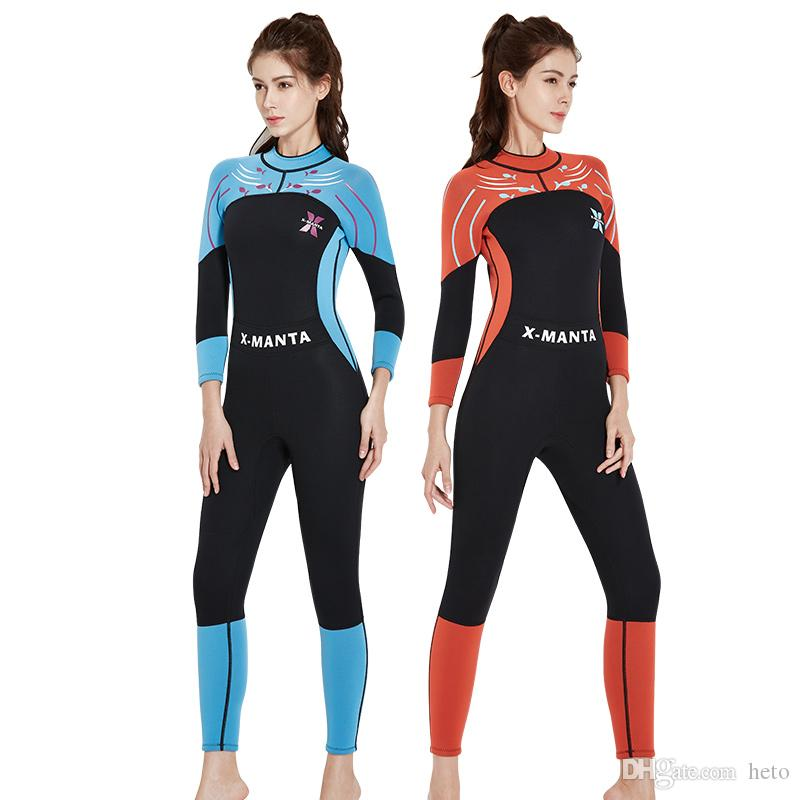 8aed69896e 2019 DIVE   SAIL 2018 3MM Neoprene Wetsuit Women Diving Suit For Women Surf  Spearfishing Wetsuit For Swimming Wetsuits Fashion Long Warm Sleeve From  Heto