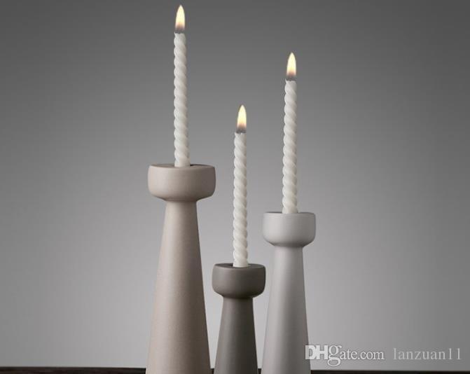 Acquista jingdezhen nordic morbido decorato in ceramica candeliere