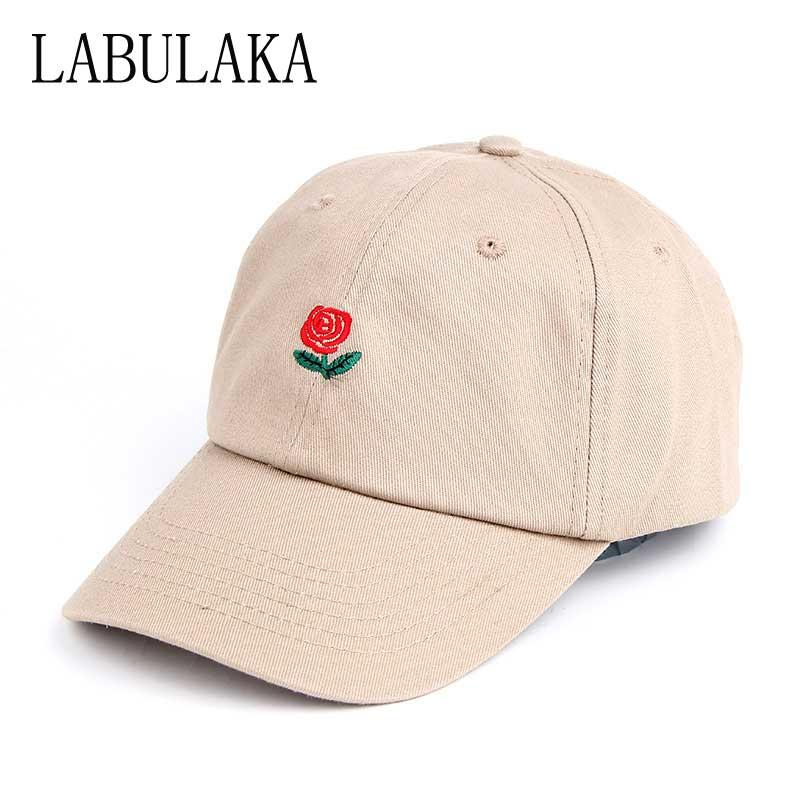 bc370f82 Casual Women's Baseball Cap Red Rose Embroidery Bone Cap Dad Hats For Men  Adjustable Hip Hop Caps High Quality Snapback Hats Snapback Cap Cool Hats  From ...