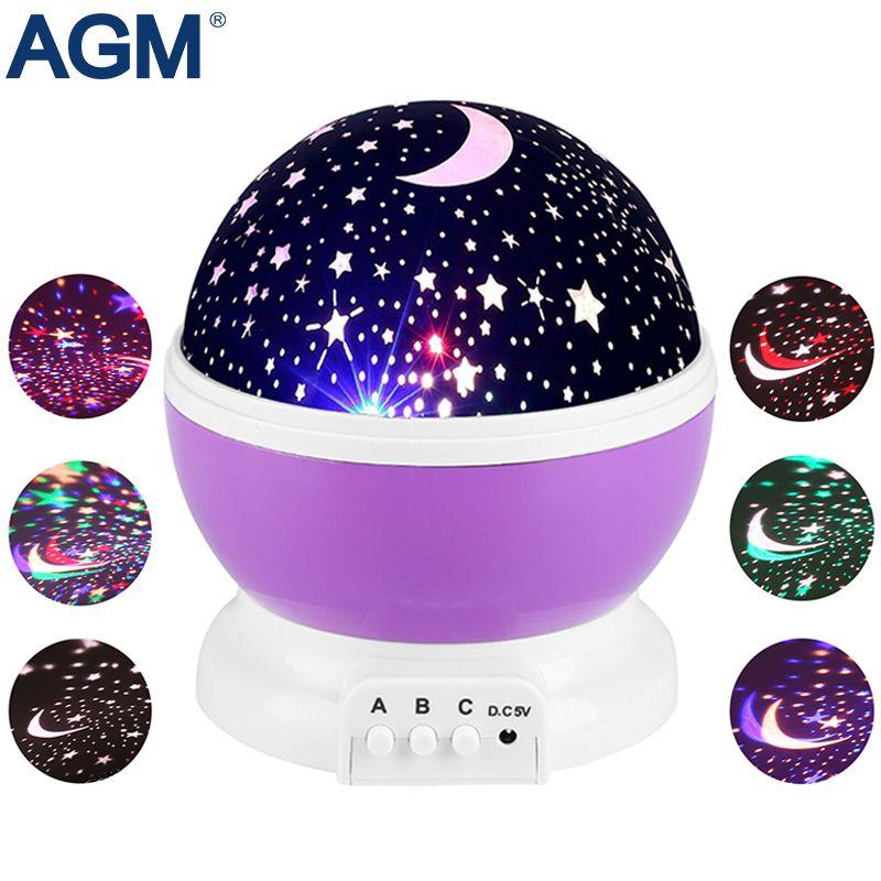 2019 Agm Led Sterne Sternenhimmel Nachtlicht Stern Projektor Mond
