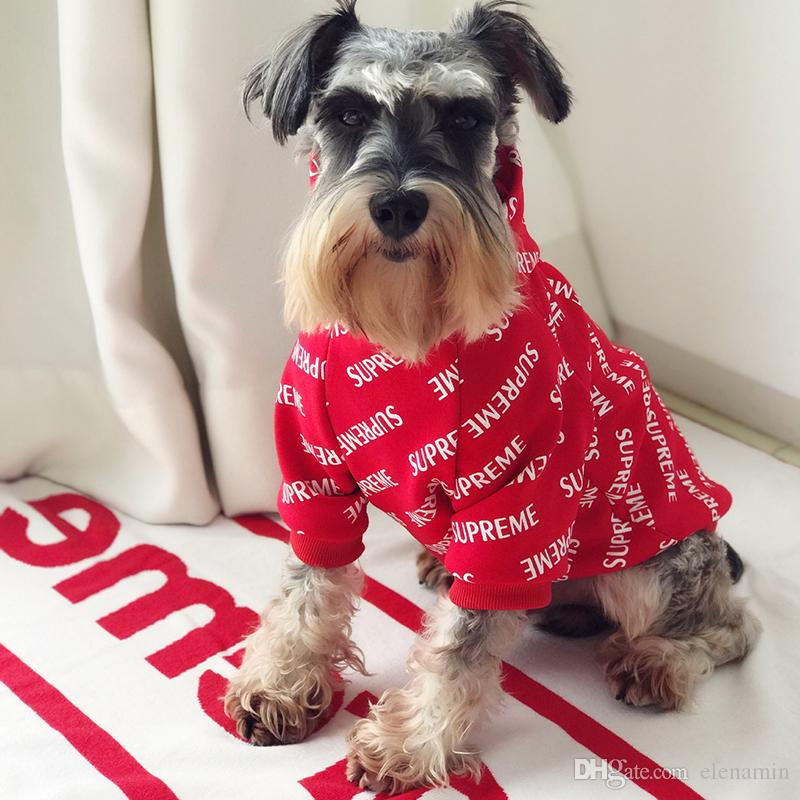 Pet Tide Brand Clothes Dog Cat Law Fighting Teddy Schnauzer Puppy Puppies Autumn And Winter Models Thick New Year Sweater