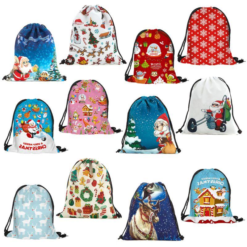 Fashion New Unisex Christmas Gift School Shoulder Bag Cinch Sack Men Women  Casual Travel Backpack Drawstring Storage Rucksack Hiking Backpack Swiss  Gear ...