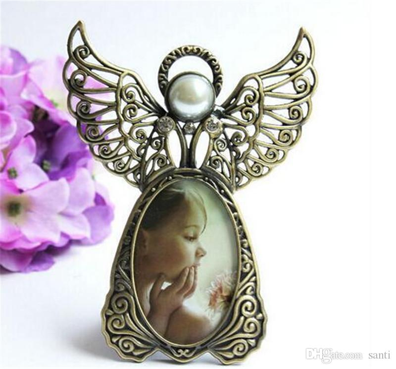 New Arts Metal Vintage Mini Picture Frames Lovely Angel Style Classic Picture Photo Frame for Home Decor and Gifts