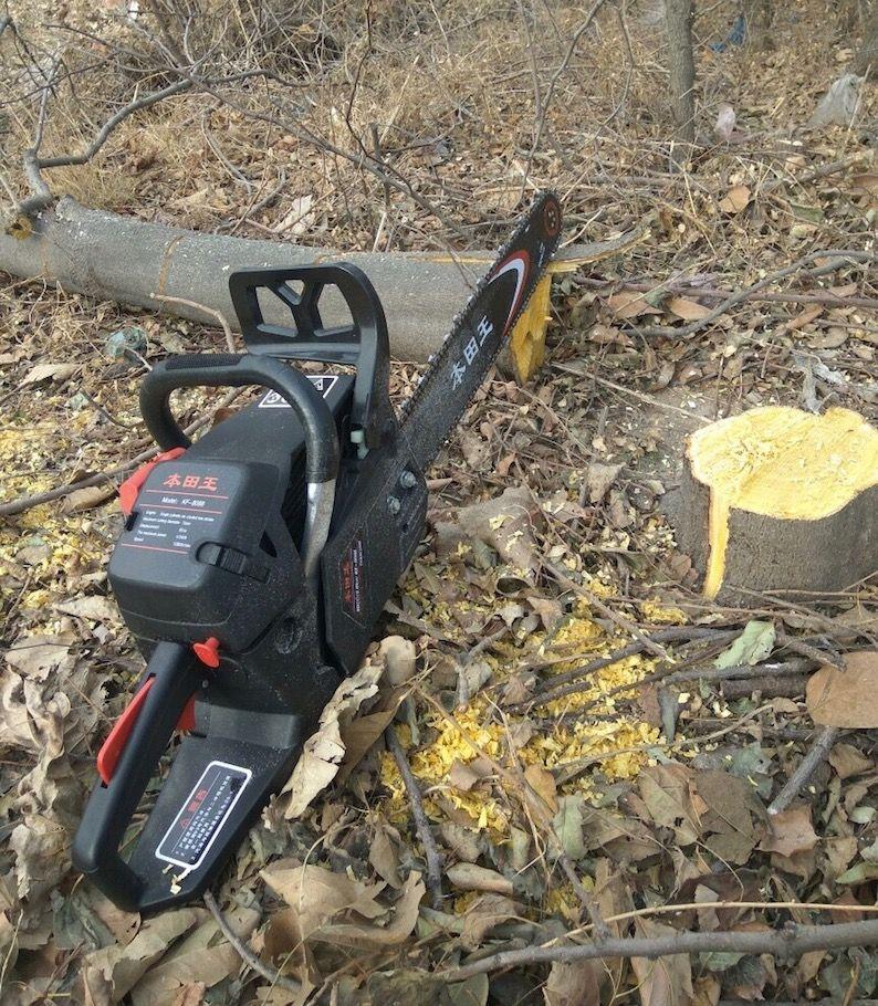 Venta caliente 8088 Motosierra eléctrica para el hogar Pequeña motosierra Máquina cortadora de madera Árbol de gasolina Sierra de registro Sierra de registro