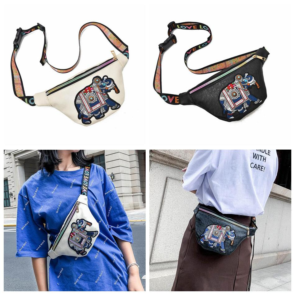 Embroidery Elephant Fanny Packs Waist Bags Women PU Leather Mini Waist Pack  Messenger Girls Coin Bag OOA5404 Cute Little Girl Purses Latest Purse For  Girls ... 7c43faa1be