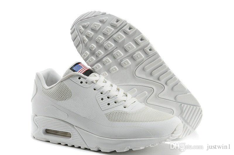 2018 HY PRM QS Homens Mulheres Running Shoes s HyperS fusível Bandeira Americana Preto Branco Azul Marinho Prata Esporte Formadores de Ouro