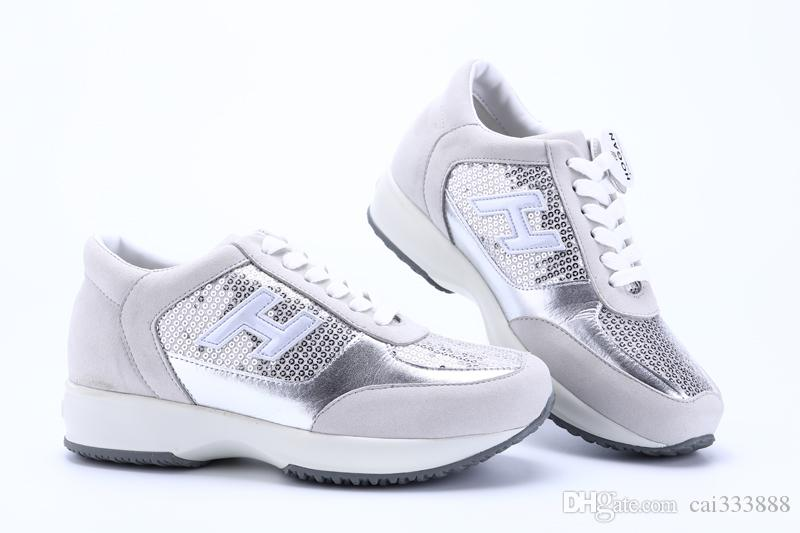 New Italian Brand Silver Sequin Women Shoes Fashion Increasing Shoes Gray  White Gaussian Size 35-40 Online with  103.99 Piece on Cai333888 s Store  1aee1d26f