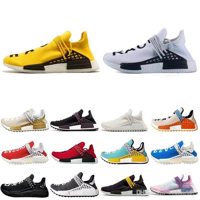 a552c521a87d7 2018 New Pharrell Williams Human Race Nmd Men Women Sports Running Shoes  Black White Grey Nmds Primeknit PK Runner XR1 R1 R2 Sneakers Running Spikes  Track ...