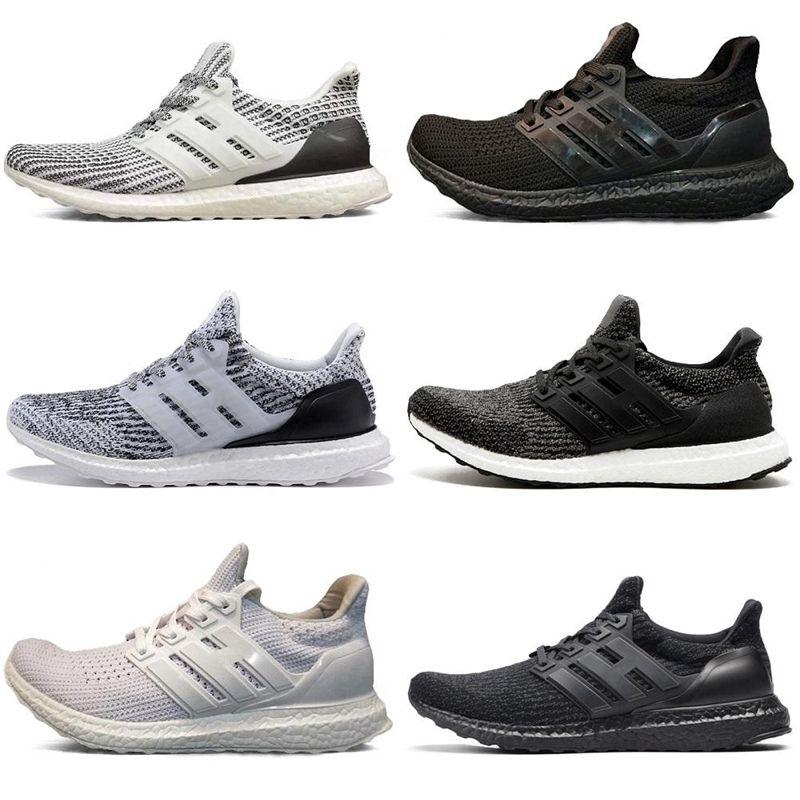 8b47307d2791 2018 3.0 4.0 Men Women Running Shoes Triple Black White CNY Oreo Blue Ultra Shoes  Sports Sneaker Eur 36 45 White Running Shoes Womans Running Shoes From ...