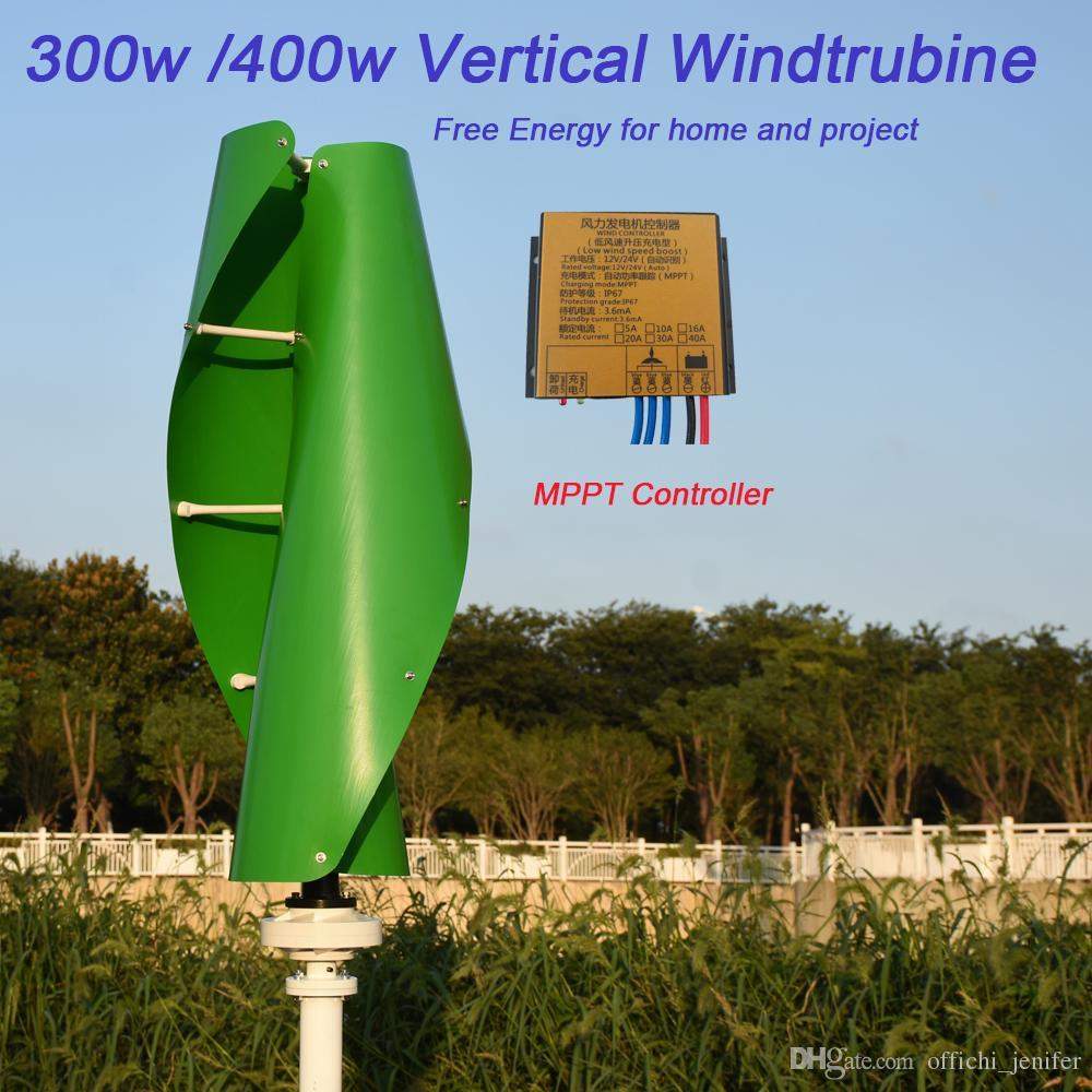 053b0a27574 Compre Nova Hélice 300 W 400 W 500 W 600 W 12 V24 V Gerador De Turbina De Energia  Eólica Vertical Com Meglev Gerador E À Prova D  Água 12 V 24 ...