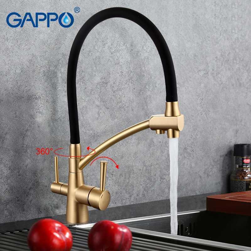 gappo-1set-water-mixer-tap-black-kitchen.jpg & 2019 GAPPO Water Mixer Tap Black Kitchen Sink Faucet Torneira 360 ...