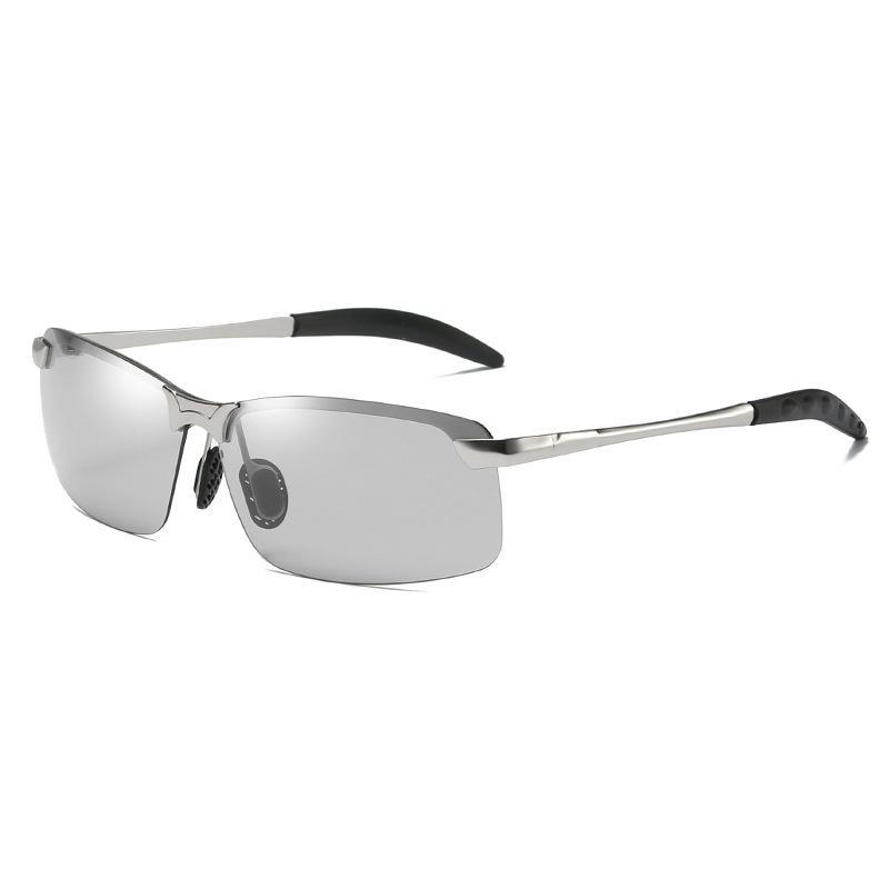61254db1b Compre Cor Polarizada Ao Ar Livre Óculos De Sol Armação De Metal Óculos De  Proteção Ocular Masculina Proteção Solar Equitação Dia E Noite Óculos De  Uso ...