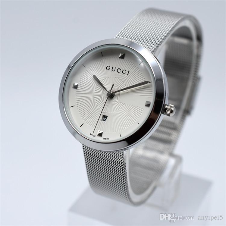 c3d1b87be Compre Relógio De Diamantes De Luxo Mulheres Aaa Marca Suíça Relógios De  Quartzo De Aço Inoxidável Designer De Moda De Prata Relógio De Pulso Montre  De Luxe ...