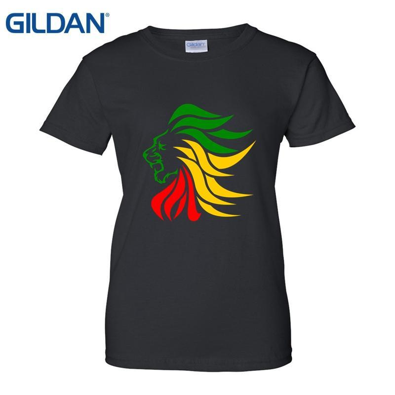 Compre Rasta Lion Rastafari Jamaica Judah Camiseta Good Quality White T  Shirt Lady Stylish Camisetas Women Summer Short Sleeves Casual A  17.59 Del  Dhshop03 ... 39702866e7502