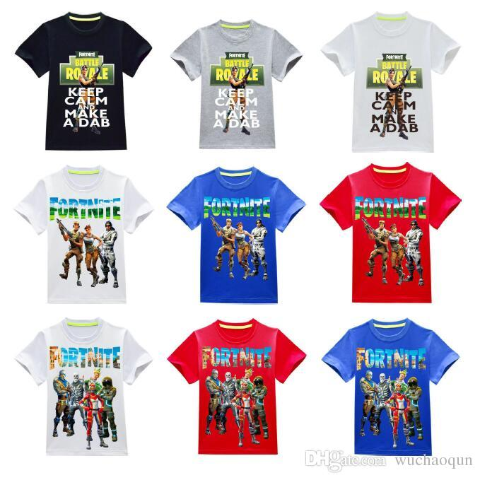b6c2e4c77cb8b Acheter 36 Style Garçons Filles Fortnite T Shirts 2018 Nouveaux Enfants Jeu Cartoon  Coton Manches Courtes T Shirt Bébé Enfants Vêtements Pour 3 ~ 14ans ...