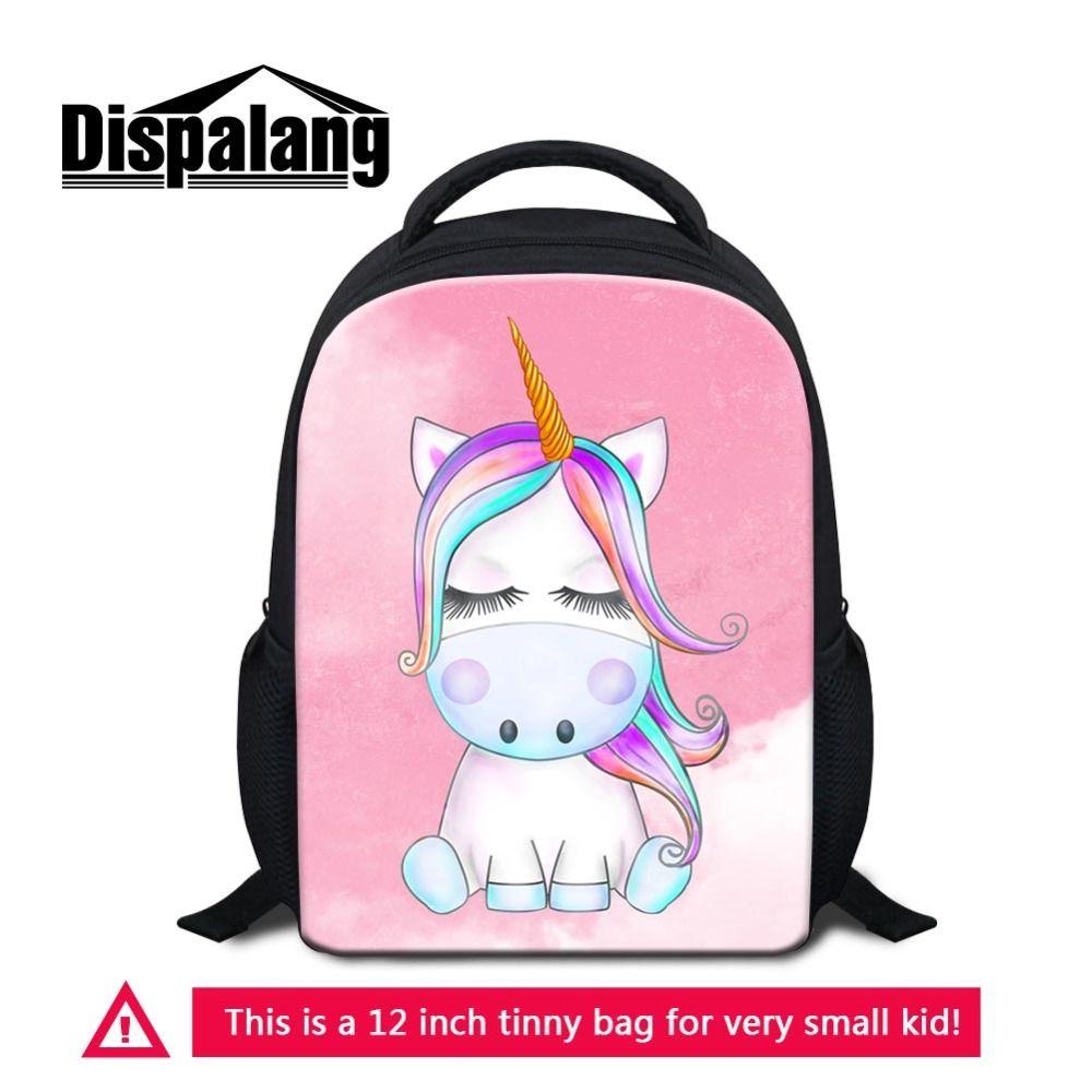 e7f3ee146b1be Satın Al Dispalang Unicorn Anaokulu Çocuklar Kızlar Için Sırt Çantası Küçük  Karikatür Okul Çantası Küçük Kitap Çantası Okul Öncesi Seyahat Çantaları  Için, ...