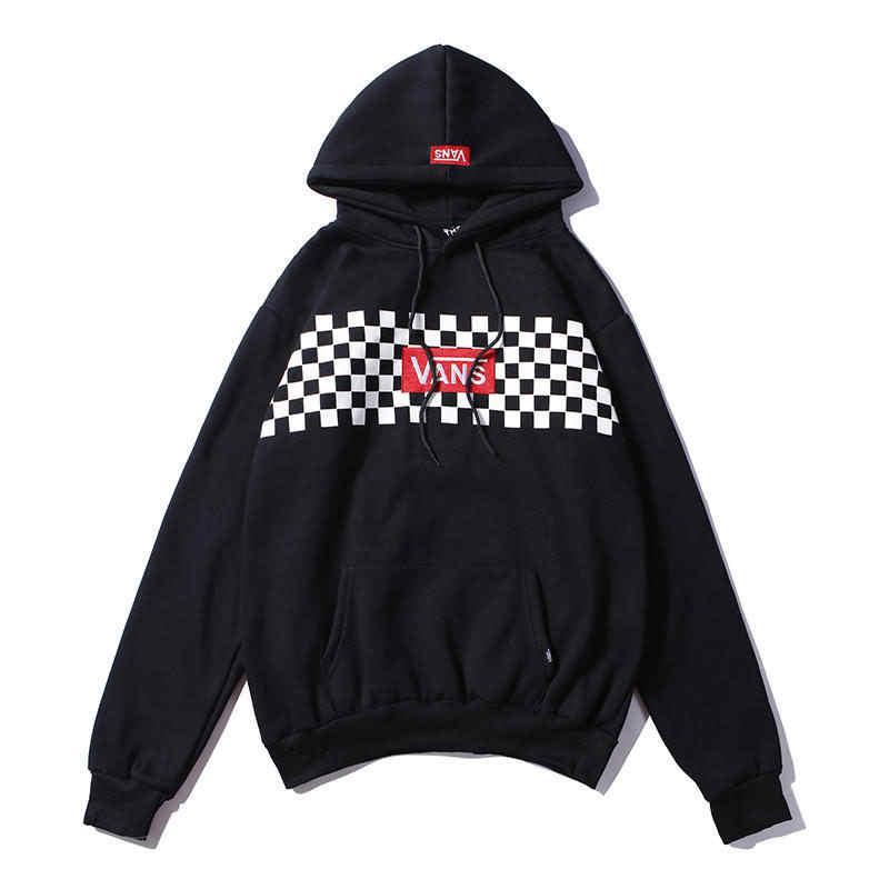 d347efd9b30 2019 Men Women Brand Velvet Hoodies Streetwear Mens Womens Designer Sweaters  Checkerboard Printing Classic Embroidery Casual Hoodied Sweatshirts From  Asoo