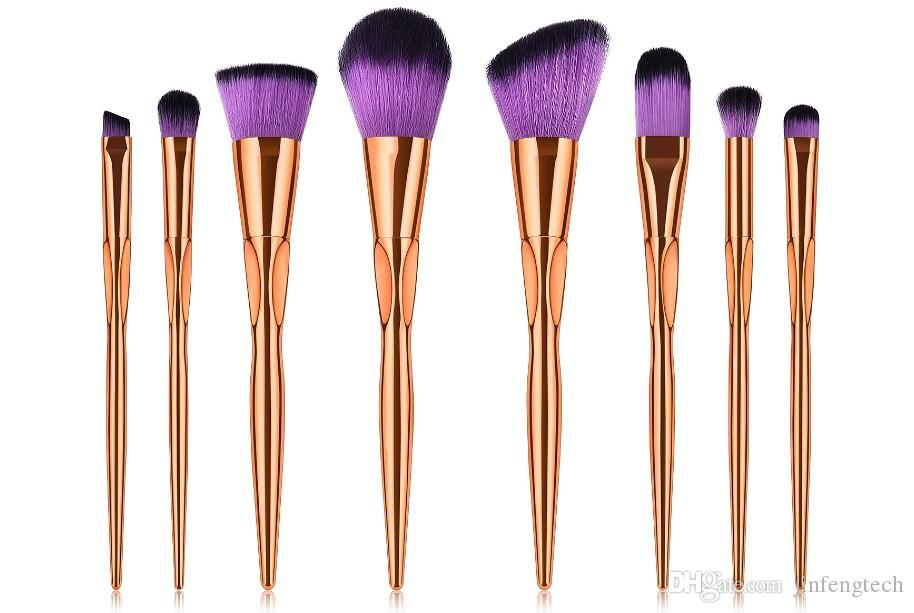 2018 Hot Sale Heart Type Makeup Brushes With Hiqh Quality Make Up Brush BB  Cream Eyeshadow Blusher Cosmetic Tool Foundation Rose Gold Beauty Products  Best ... 6156cb92252b