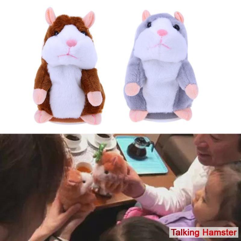 15cm Talking Hamster Electronic Pets Baby Stuffed Toys Plush Dolls