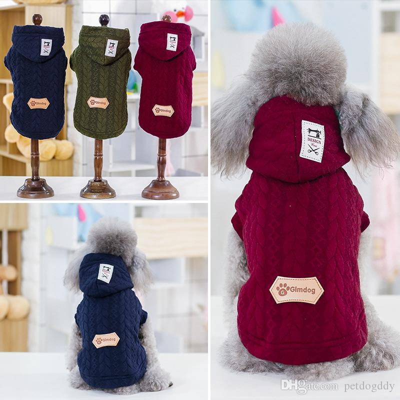 Dog Clothes Cotton Vest Buttons Fleece With Hats Winter Dog Apparel Teddy Bulldog Schnauzer Apparel Wholesale