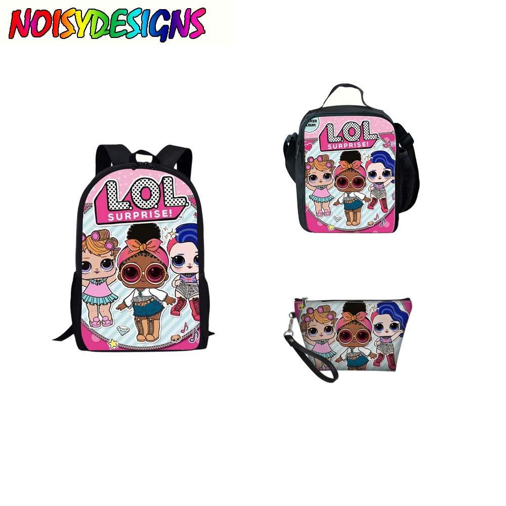 c2a286d4d96f Children Lol Dolls School Bags Set Girls Kids Orthopedic Bagpack Vintage  School Backpack Princess Kids Satchel Mochila Infantil Gregory Backpacks  High ...