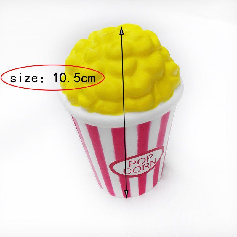 Kawaii rote Farbe Parfüm langsam steigende Simulation Popcorn Squishy Duft Squeeze Vent Entspannung Popcorn Squishies Spielzeug FD0010