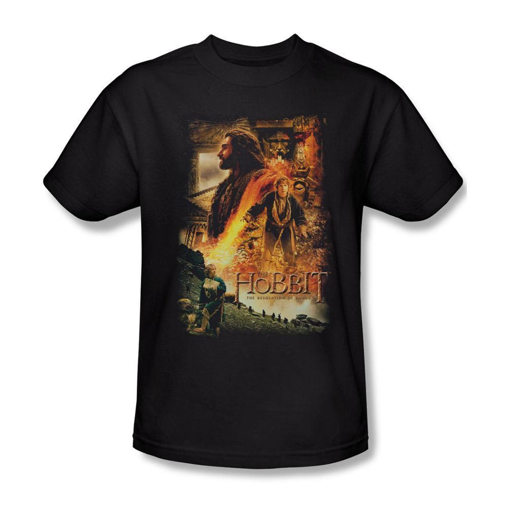The Hobbit 2 Desolation Of Smaug Golden Chambers Licencia para adulto Camiseta para hombre 2018 Marca de moda Camiseta O-cuello 100% algodón Camiseta Tops Camiseta