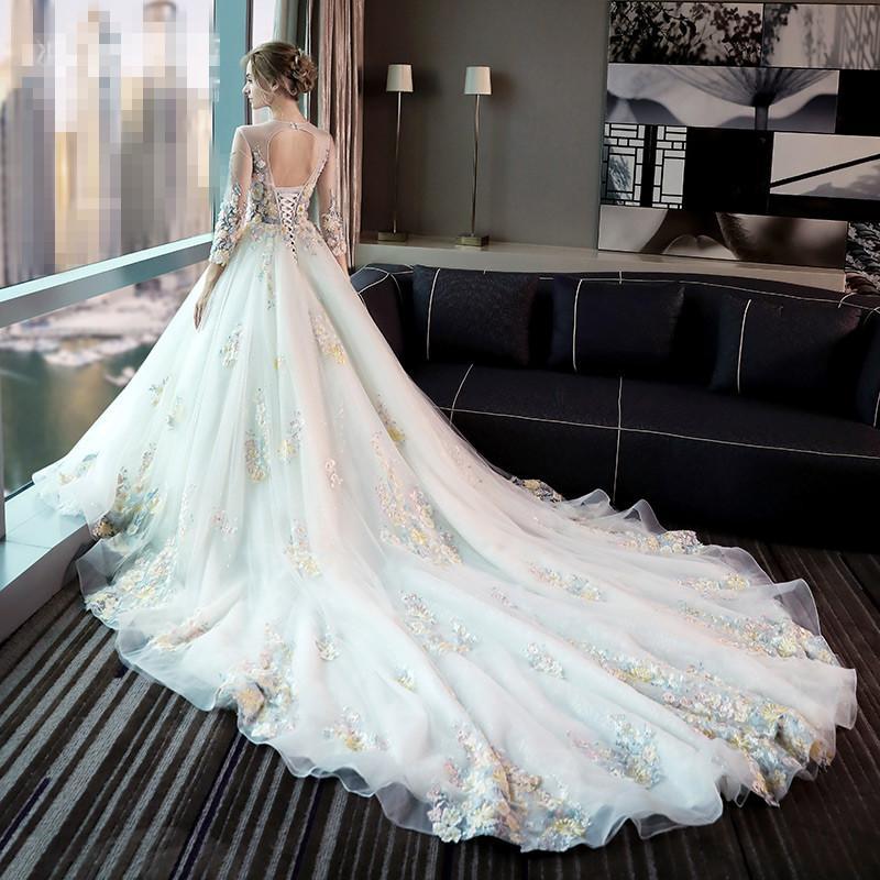 Wedding Dresses ,2017 New Summer Bride Wedding Yarn