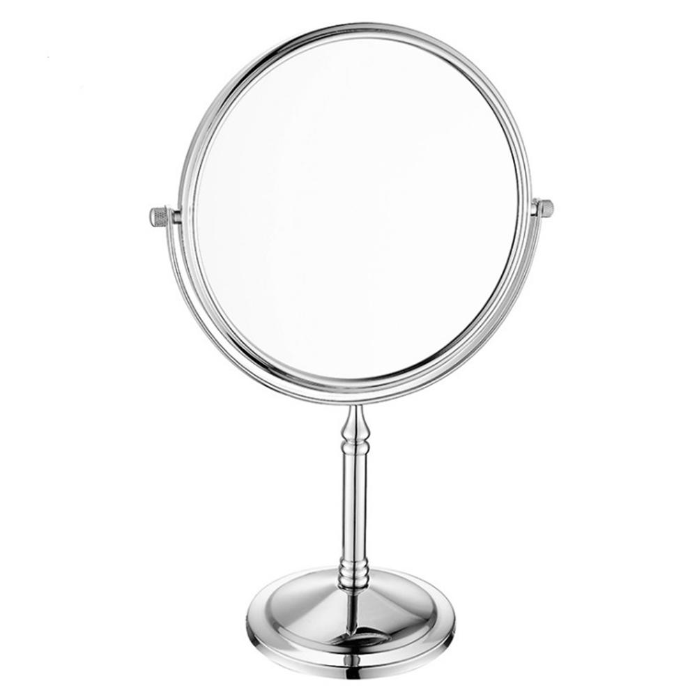 6-8 Inch Double-Sided Makeup Oval Magnifying Mirror,Bathroom Copper Metal  Mirrors,Special Make-up Magnifying Glass Effect