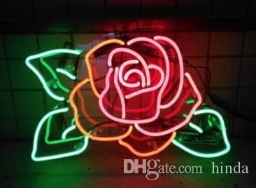2019 New Rose Flower Diy Glass Led Neon Sign Flex Rope