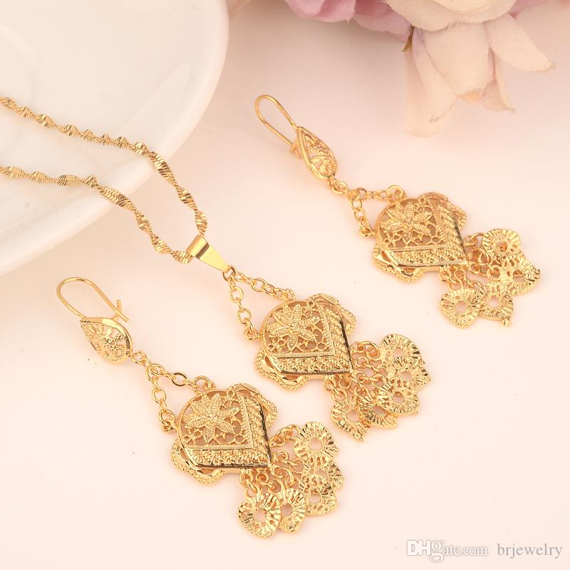 9714cbf43e 2019 Gold Color Ethiopian Jewelry Sets Eritrea Habesha Africa Bridals Wedding  Jewelry Gift Necklace Pendnat Earrings Diy Charms From Brjewelry, ...