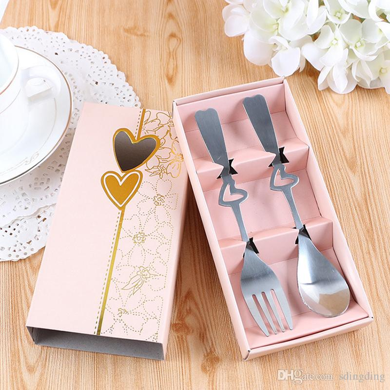 High Quality Stainless Steel Tableware Box Set Custom Printing Chinese Style Wedding Gift Durable Chopstick Spoon Dinnerware Set DH0040