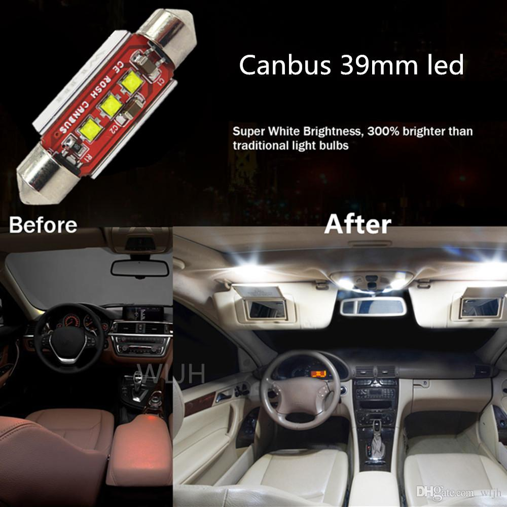 wljh auto car canbus 9w c10w 39mm led lamp 239 272 sv85 interior lights 12v led car light source no polarity lights automotive lights car from wljh