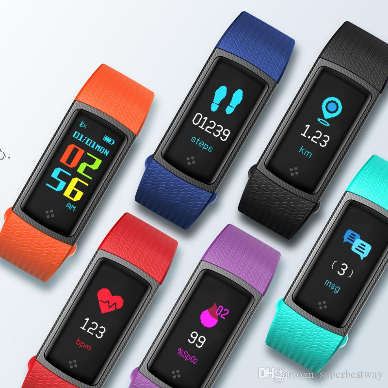 2018 S9 Smart Bracelet Wristband Fitness Tracker Heart Rate Monitor Blood  Pressure Watch Sleep Monitor Waterproof Resistance OTH918