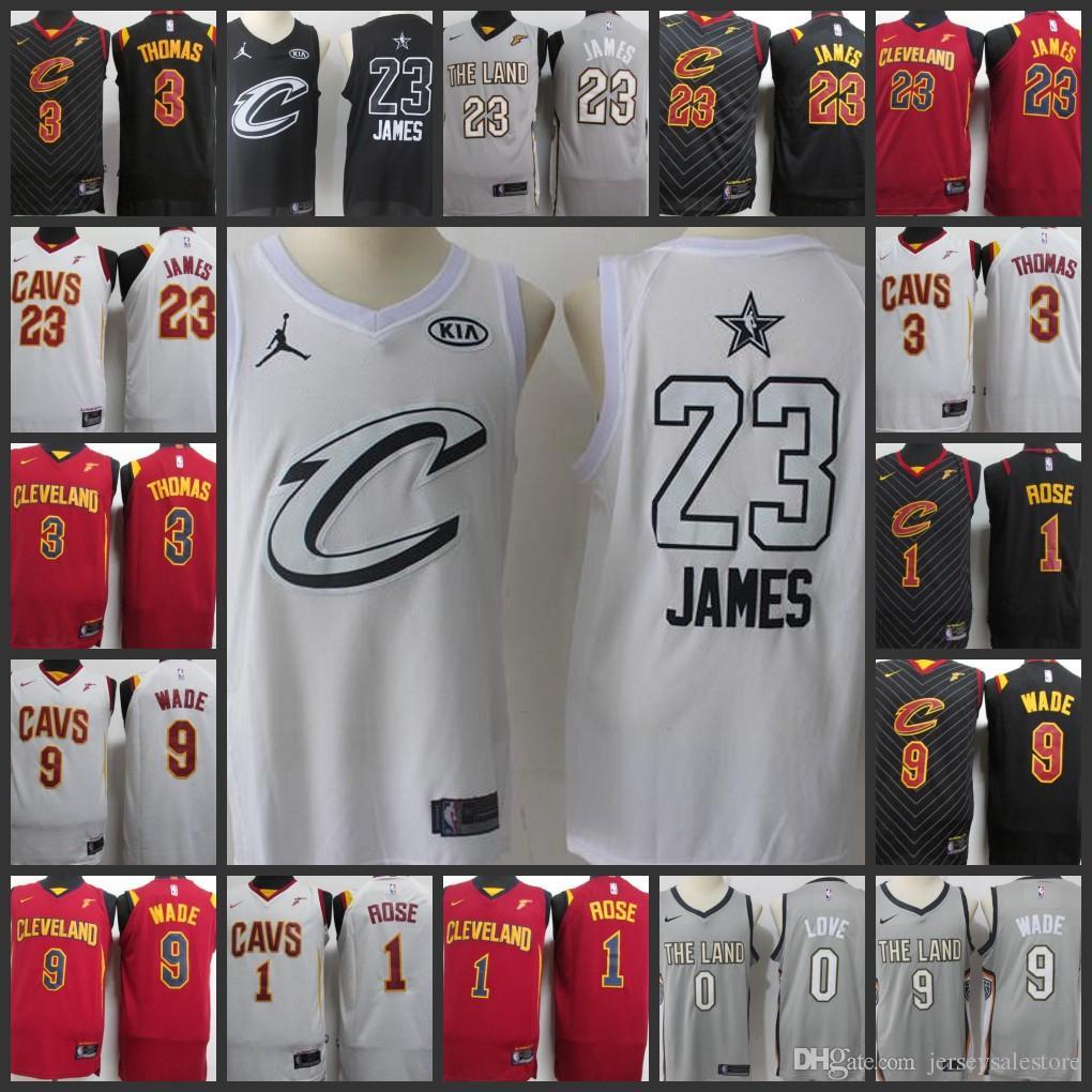 e9a093b43 Hot 2017-18 New Season Cleveland Men Cavaliers Jerseys  23 LeBron ...