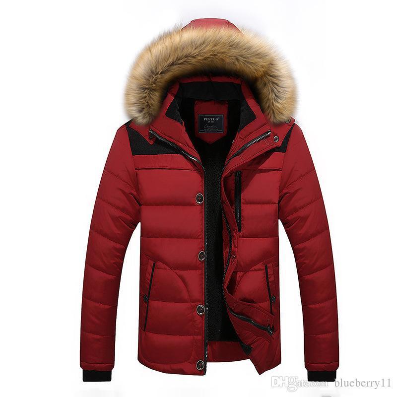 1db498d50da6f 2017 Men Winter Jackets Coats Black Warm Down Jacket Outdoor Hooded ...