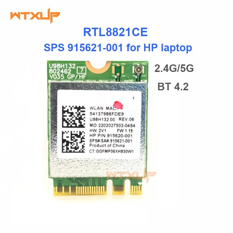 Rtl8821ce 802. 11ac 1x1 wi-fi+bt 4. 2 combo adapter card sps 915621.