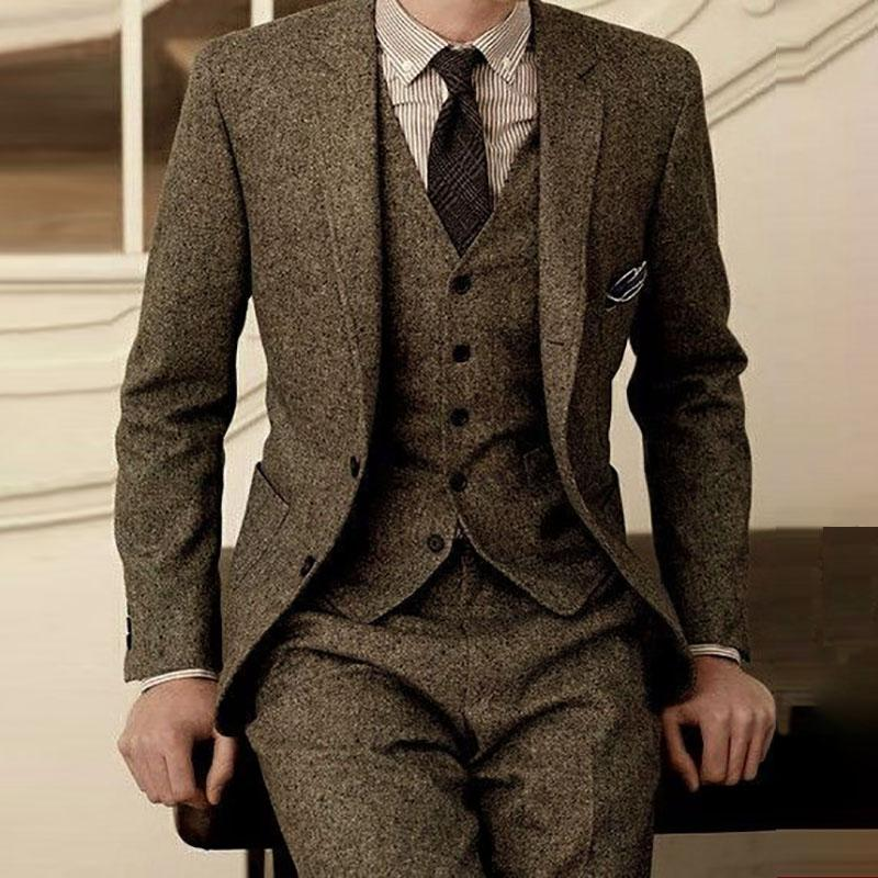 a81968557227 2019 2018 Latest Coat Pant Designs Brown Man Suit For Wedding ...