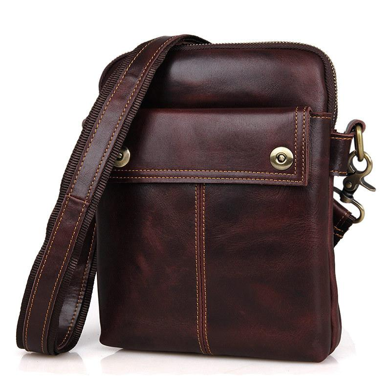 Nesitu Black Wine Red Genuine Leather Small Men Messenger Bags Male Bag For  Mini Ipad Real Skin Men S Shoulder Bag M1006 Cross Body Purses Cheap  Designer ... 1c4b59abcbf77