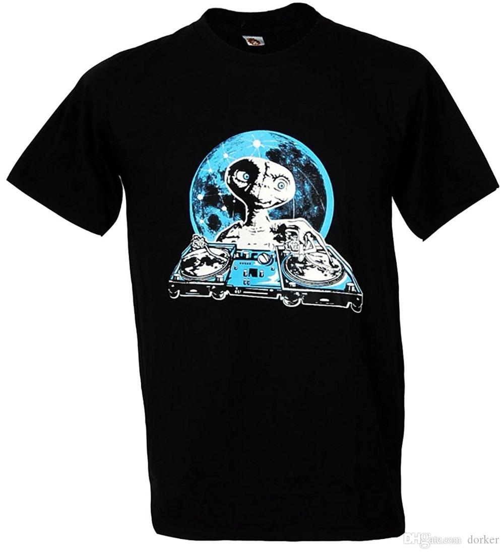 76929b90 Summer 2018 Famous Brand Tshirtmystyle- E.T. DJ Hip Hop Dance Music Party  Men's T-shirt Black Brand Clothing Men t shirt