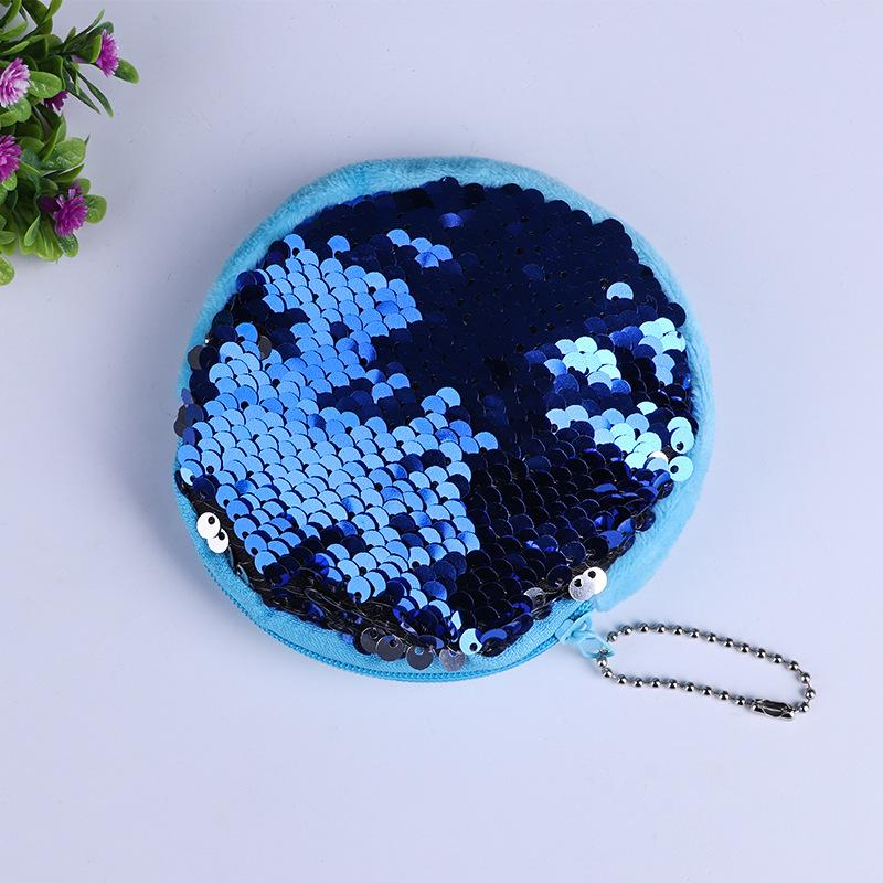 Sequin Mermaid Coin Purse Mermaid Glitter 10cm Handbag Evening Wallet baby Pouch Chirstmas Gifts LC665
