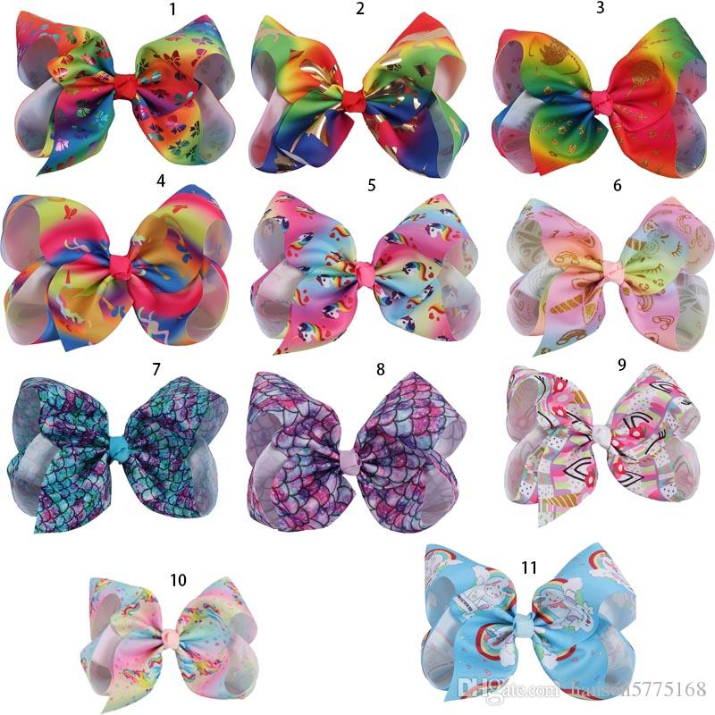 8 Inch Large Sequin Hair Bow On Clip Sparkly Big Kid Hair Clip For Dancing Party