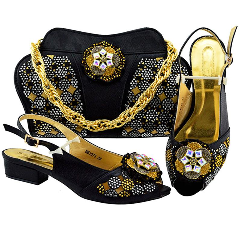 1fc9855b171 New Fashion Women Shoes And Bags To Match Set Sale Nigeria Wedding Shoe And  Bags Set Decorated With Appliques Heels Womens Pumps Clogs For Women Cheap  Shoes ...