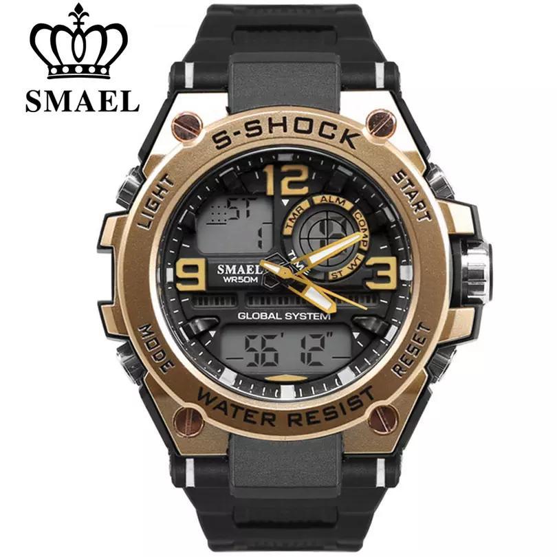 fbdee48226ec Compre SMAEL Reloj De Lujo Hombres Moda Impermeable Analógico Deportes Reloj  De Pulsera De Cuarzo Digital Hombre Relojes De Primeras Marcas De Lujo Reloj  De ...