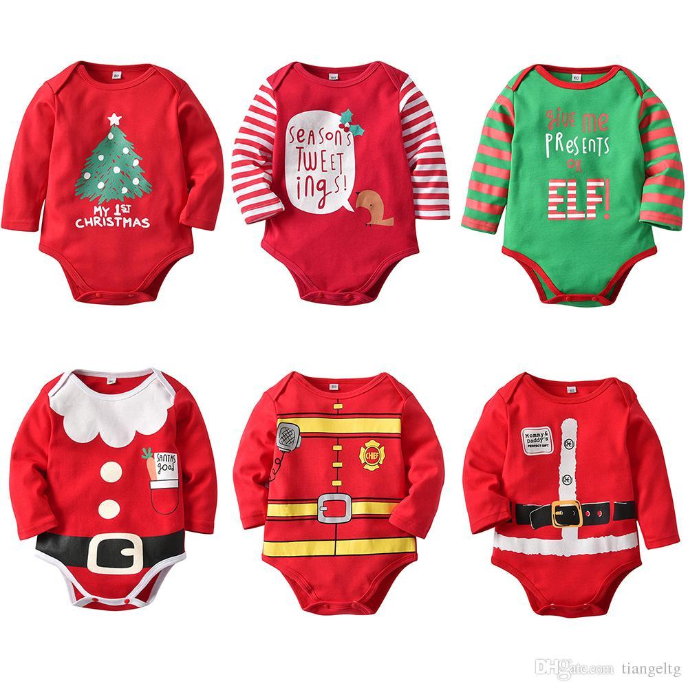 Großhandel Baby Weihnachten Onesies Strampler Neugeborenen Boy Girl ...
