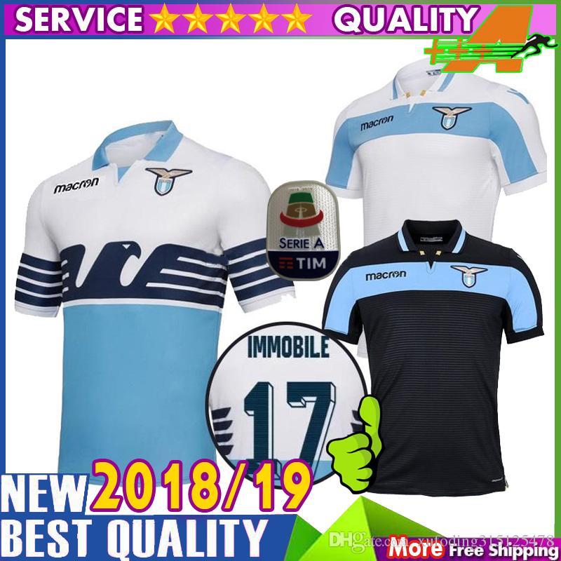 1398bc3ea75 2019 18 19 LAZIO Soccer Jerseys Home Away Third BERISHA F.ANDERSON 2018  SERGEJ 2019 Lazio Jersey LUIS ALBRTO Football Shirts Best Quality From ...