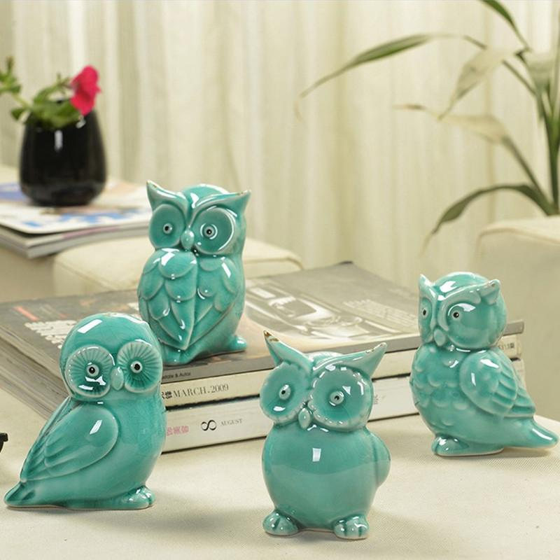 Compre Esmalte Agrietado De La Vendimia Azul Y Verde Figuritas De ...