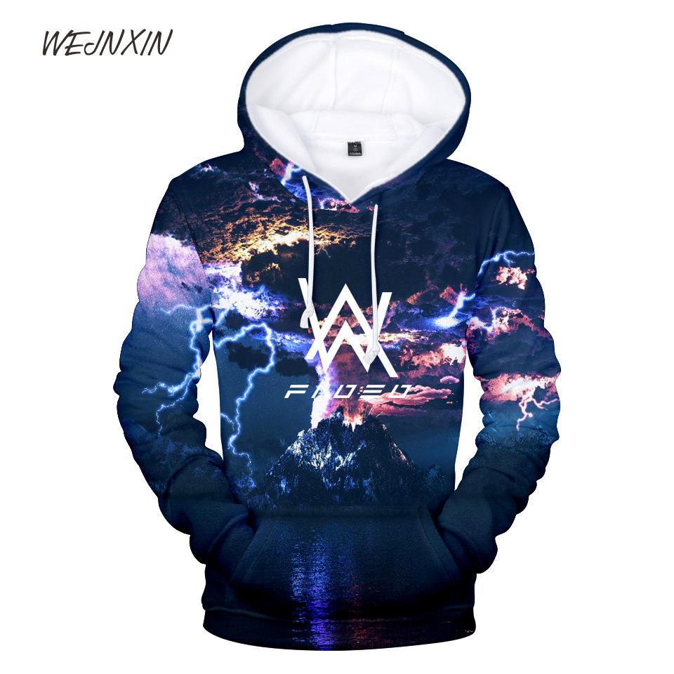 bca1d2407e6 WEJNXIN 2018 New Alan Walker 3D Pullover Multi Print Hood Hoodies Men Women  Unisex Sweatshirt Big Size Streetwear Camisetas
